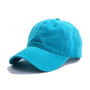 AYACO MKAP01 Solid Men's Sea Blue Cotton Cap With Vintage Texture