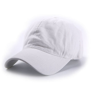 AYACO MKAP01 Solid Men's White Cotton Cap With Vintage Texture
