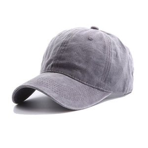 AYACO MKAP01 Solid Men's Light Grey Cotton Cap With Vintage Texture