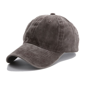 AYACO MKAP01 Solid Men's Coffee Cotton Cap With Vintage Texture