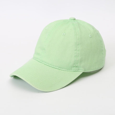 AYACO MKAP01 Solid Men's Light Green Cotton Cap With Vintage Texture