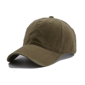 AYACO MKAP01 Solid Men's Army Green Cotton Cap With Vintage Texture