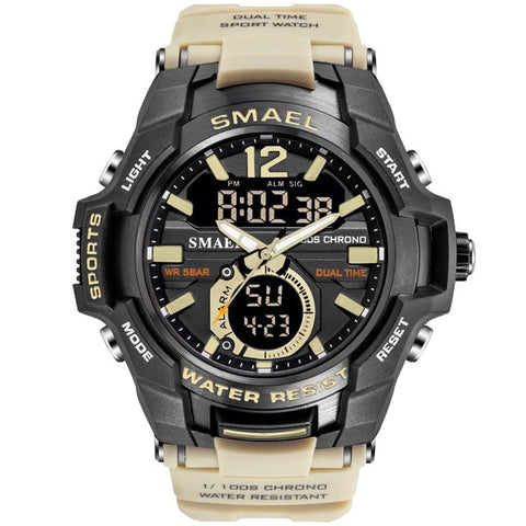 SMAEL Men's Khaki Army Sports Watch