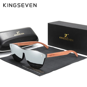 KINGSEVEN B-5510 Men's Silver Polarised Anti-Reflective Sunglasses