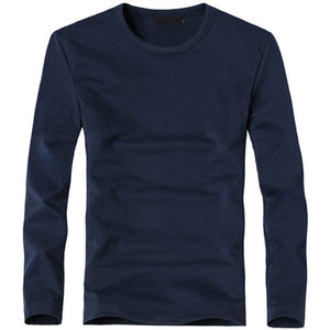 Open image in slideshow, MRMT Men's O Navy Classic Long Sleeve T-Shirt V-Neck