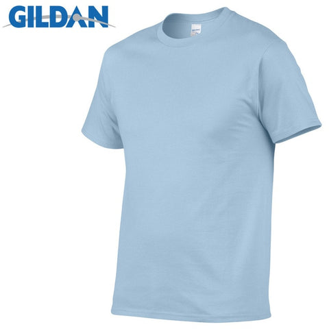 GILDAN T8 Men's Light Blue Lightweight 100% Cotton T-Shirt