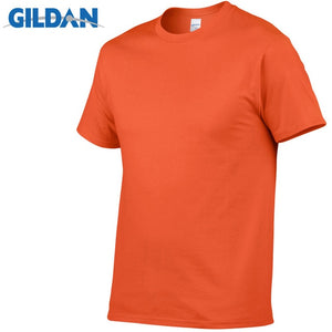 Open image in slideshow, GILDAN T8 Men's Orange Lightweight 100% Cotton T-Shirt