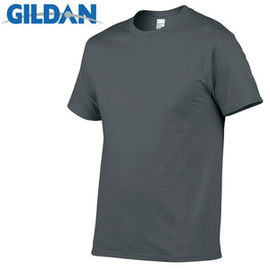 GILDAN T8 Men's Charcoal Lightweight 100% Cotton T-Shirt