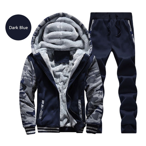 MANTORS Men's Darkblue Thick Inner Fleece Hooded Winter Coat