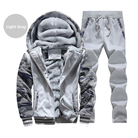 MANTORS Men's Lightgrey Thick Inner Fleece Hooded Winter Coat
