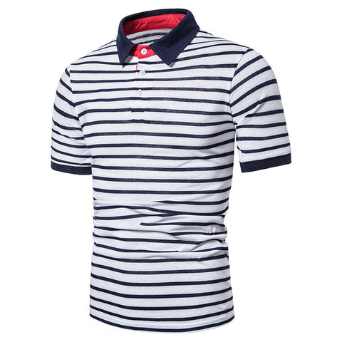 ZHELIN Men's Zebra Contrast Polo Shirt