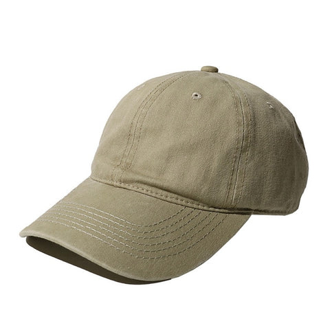 AYACO MKAP01 Solid Men's Beige Cotton Cap With Vintage Texture