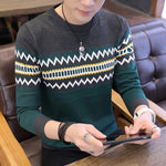 VARSANOL Men's Green Korea Grey Sweater