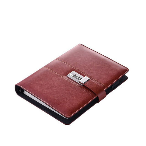 Business Security Red Notebook Journal