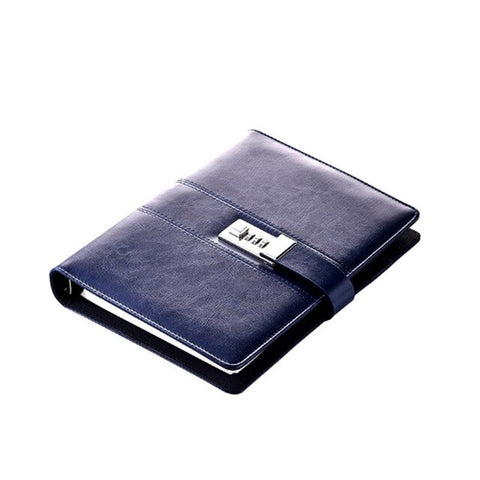 Business Security Blue Notebook Journal
