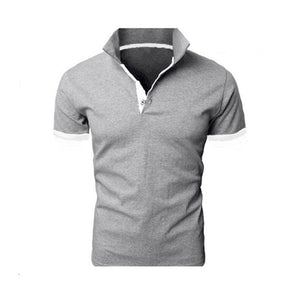 Open image in slideshow, TJWLKJ  F19 Men's Gray Summer Short Sleeve Polo Shirt With Soft Fabric Finish