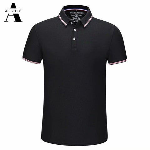 AJZHY Men's Black Casual Cotton Polo Shirt