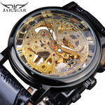 Winner Men's Black Luxury Skeleton Mechanical Watch