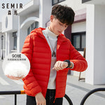 SEMIR Men's Orange Red Casual Fashion Winter Jacket