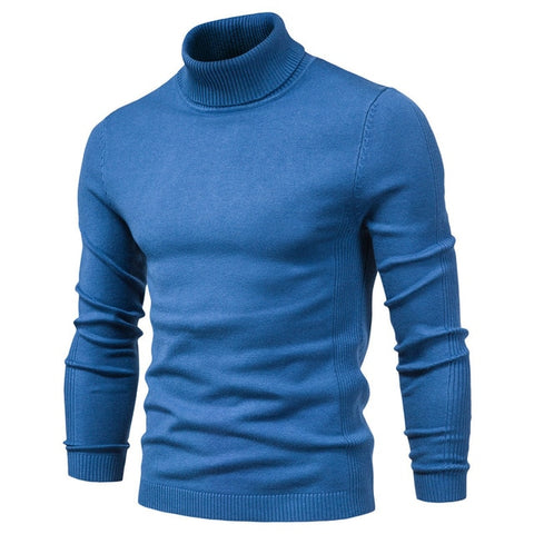 NEGIZBER Men's MD-blue Winter Turtleneck