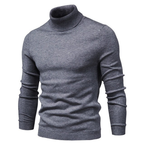 NEGIZBER Men's Dark Grey Winter Turtleneck
