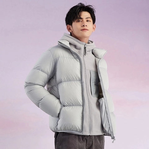 SEMIR Men's Light Gray Casual Fashion Winter Jacket