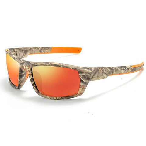 XIRAN Men's Orange Cammo Vintage Polarized Sport Sunglasses