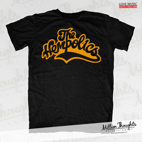 Hempolics T-shirt - Black with yellow