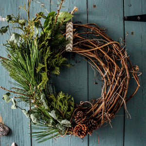 Wreath Making, Decorating and Wine Tasting Session with Two Birds One Stone Farm