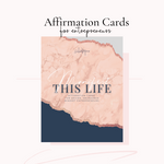 Pre- Order: Manifest This Life Affirmation Cards For Entrepreneurs