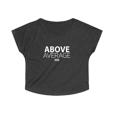 Above Average Off The Shoulder Loose Fit Tee  White Font