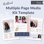 Multi Page Media Kit Canva Template