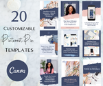 Pinterest Pin Canva Templates