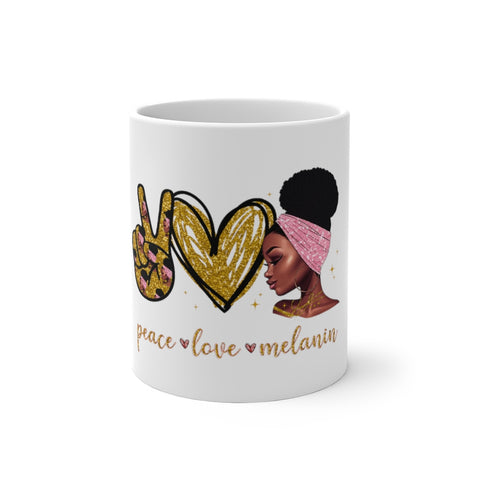 Peace Love & Melanin Color Changing Mug