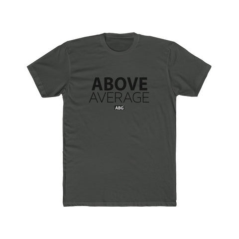 Above Average Men's Cotton Crew Black Font