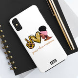 Peace Love & Melanin Phone Case I- Phone X Tough Phone Case