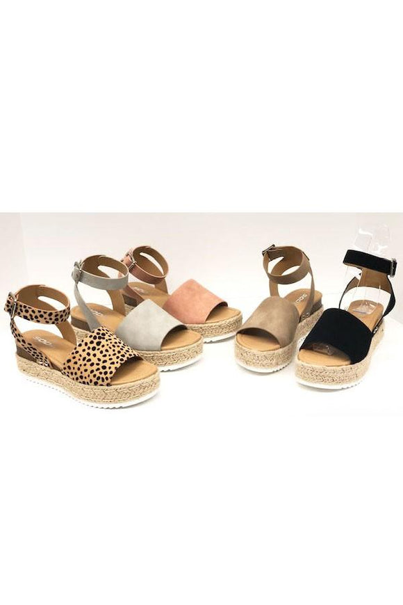 The Laura Sandal (Leopard)