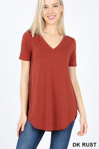 Relaxed Fit Tee (Dark Rust)