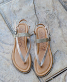 Rose Gold Galaxy Matallic Sandal
