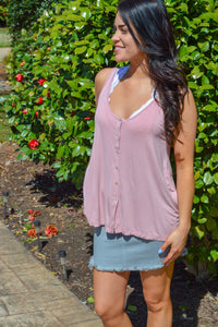 All Fun And Games Tank (Desert Rose)