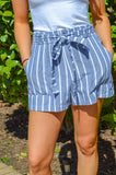 Sassy And Striped Shorts (Navy)