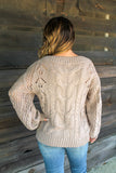 When The Leaves Fall Sweater(Cream)