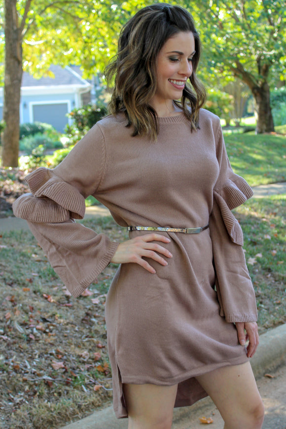 Fall Favorites Bell Sleeve Dress