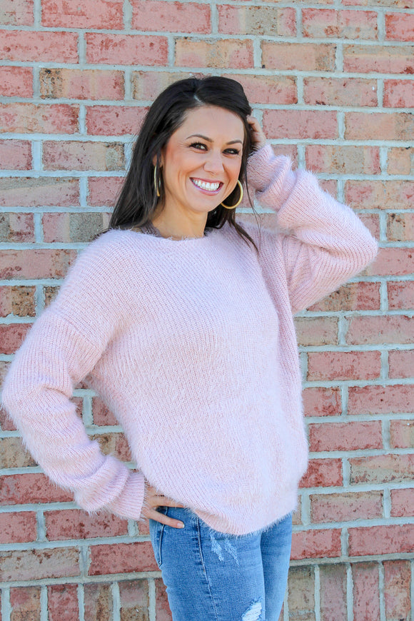 Forever Falling Sweater (Blush)