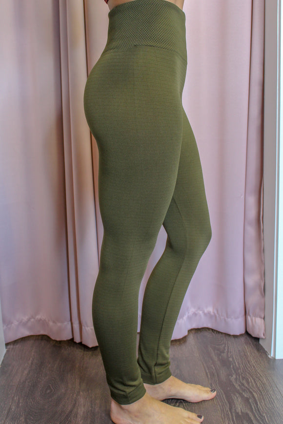 Cozy Up Leggings (Olive)