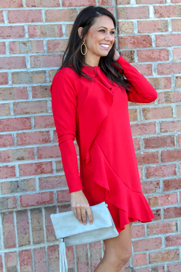 You Give Me Joy Dress (Red)