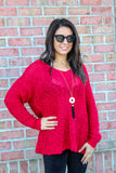 Twinkling Lights Sweater (Cranberry)