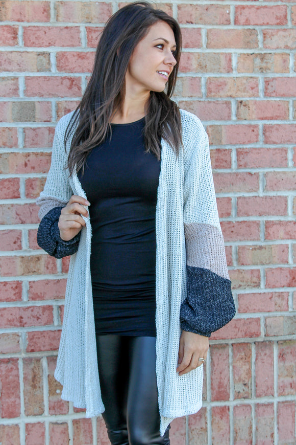 Warm Your Heart Cardigan (Oatmeal)