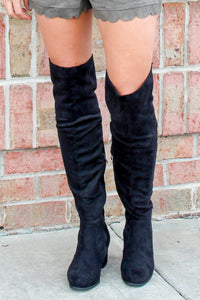 The Jackie Knee High (Black)