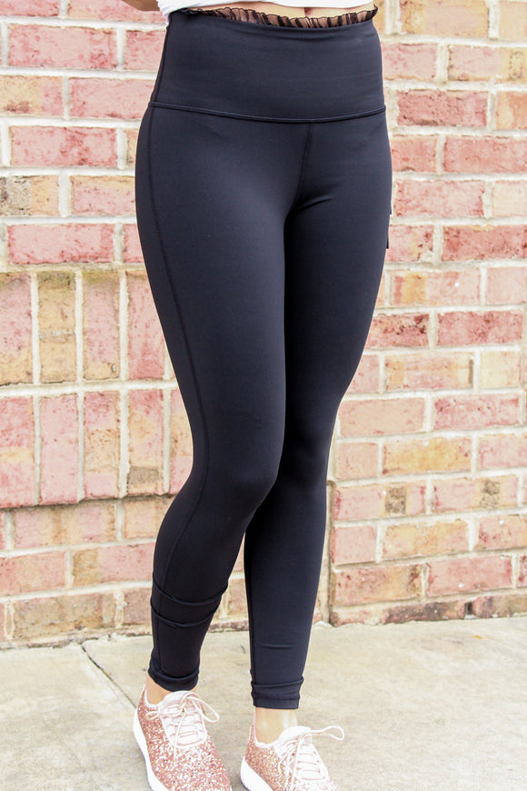 Frou Frou Laced Edge Leggings